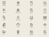 Dashboard Icons Design