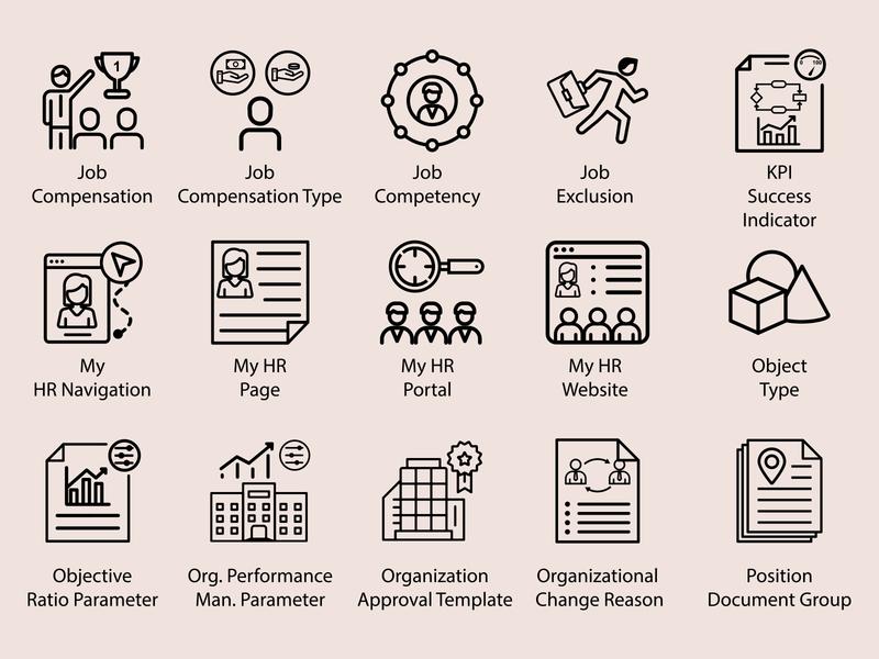 Job Icon Design type abstract mark typography app icons branding identity icons app set design icon