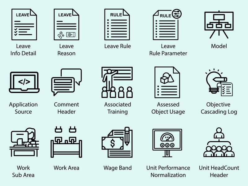 Office Leave Rule Icon Design office typography app icons type identity icons app set design icon