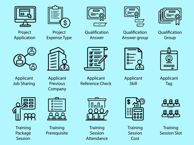 Office Icon Set type mark app icons identity icons app set design icon