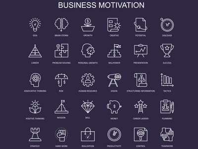 Business Motivation Icons