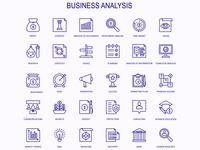 Business Analysis Icon Design