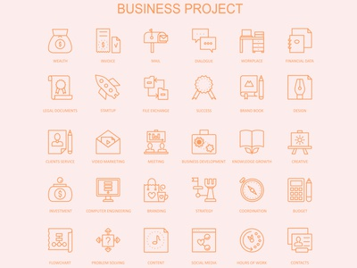 Business Project Icons Design