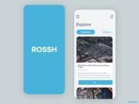 ROSSH flat ux interaction design app design ui  ux ui branding