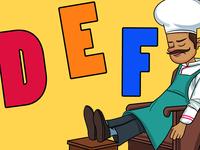 D E F Alphabet Illustration