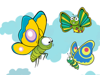 Butterfly Flying Illustration