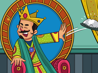 King Is Throwing Plate - Illustration