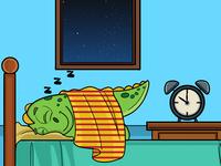 Dinosaur Sleeping Illustration