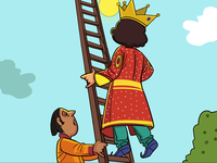 The King On Stair Story Illustration