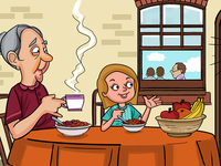 Breakfast Story Illustration