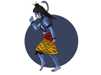 Lord Shiva Dancing Story Illustration