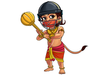 Hanuman ji Illustration