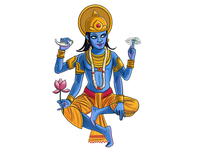 God Vishnu Illustration