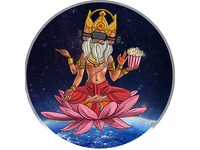 God Brahma Illustration