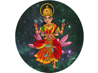 Goddess Laxmi Illustration