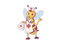 Nurse Bee Illustration