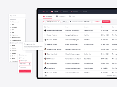 TalentLyft — Engage redesign ui experience user ux data tables complex users user-testing crm tool typography clean onboarding app web ats recruitement talentlyft