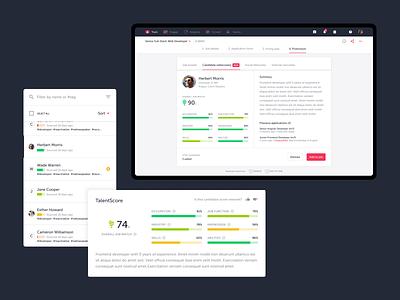 TalentLyft — AI assistant ux ui intelligence artificial smart assistant ai clean onboarding app web ats recruitement talentlyft