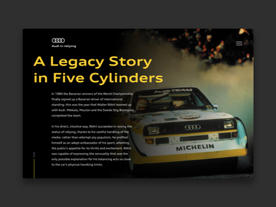 Audi in rallying concept legacy history website concept audi