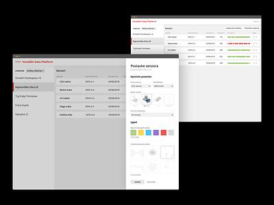 IoT platform administration – sensor settings sensor administration iot