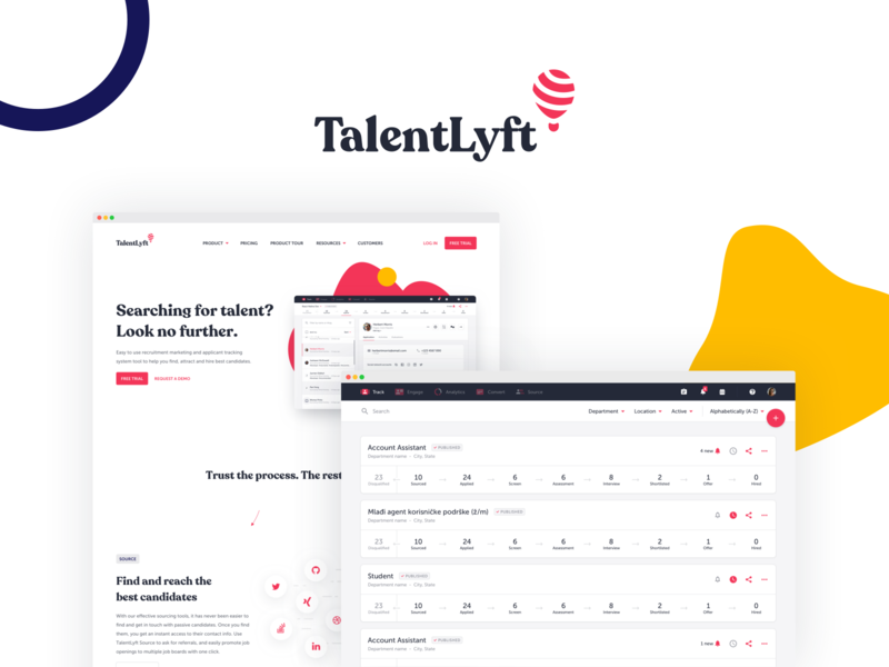 TalentLyft —  The Swiss Army Knife of HR software user interface user experience recruitement tool ats hr software identity branding ux ui webdesign app web