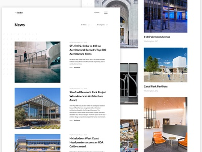 Studios Architecture - Redesign website