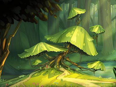 forest ( inspired by Nikita Bulatov)