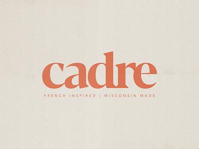 Cadre Identity graphic design restaurant logo restaurant branding wordmark monogram typogaphy type logo design logotype logo identity design art direction brand identity branding design branding