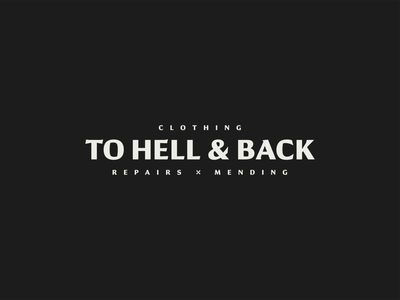 To Hell & Back Wordmark identity brand identity branding typography type logo design logo logotype wordmark graphic design design