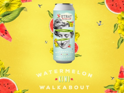 Stray Forth Watermelon Kiwi Walkabout planet propaganda packaging design packaging identity collage design branding can design art direction