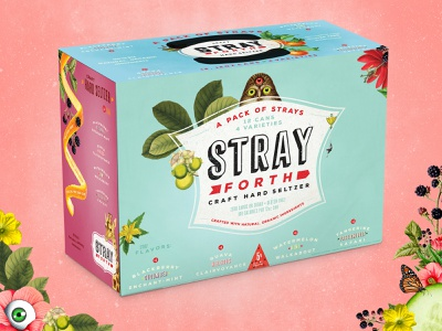 Pack Of Strays: Stray Forth 12oz Variety Pack planet propaganda packaging design packaging identity design collage can design branding art direction