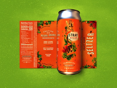 Stray Forth Tangerine Passionfruit 16 oz.