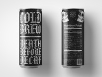 Death Before Decaf: Cold Brew Can
