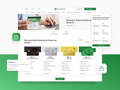 Grupo Petersen creditcard cards card website design responsive design finance banking bank ux ui design