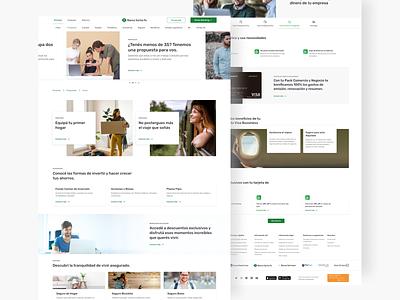 Grupo Petersen website web design ux banking website ui components figma banking