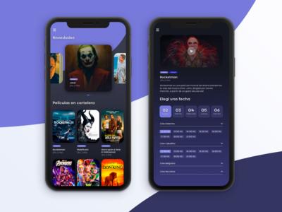 Cinema tickets - concept app