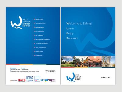 West London English School brochure logo design rebrand artwork design logo branding