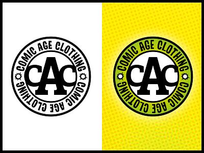 Comic Age Clothing Logo rebrand brand guidelines typography vector artwork design logo branding