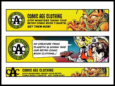 Comic age Clothing banner ads banner ads brand guidelines artwork design logo branding