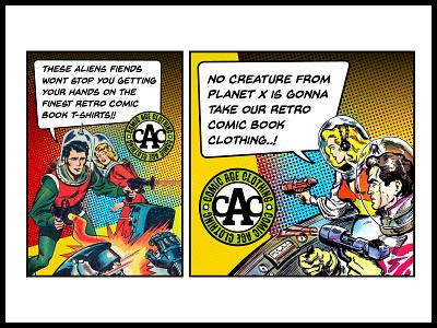 Comic Age online adverts advertising artwork design logo branding