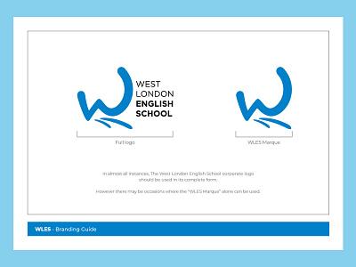 West London English School branding guidelines rebrand typography brand guidelines design logo branding