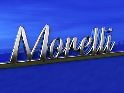 Morelli car emblem test render 3d render 3d modeling 3d typography