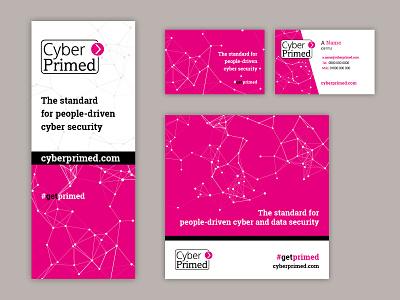 Cyber Primed brand identity graphic design brochure rebrand logo design brand guidelines vector typography artwork design logo branding