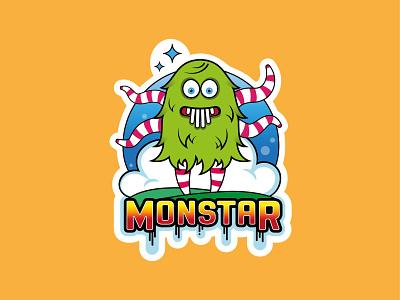 Tentacle Monstar! icon vector artwork logo design branding illustration typography