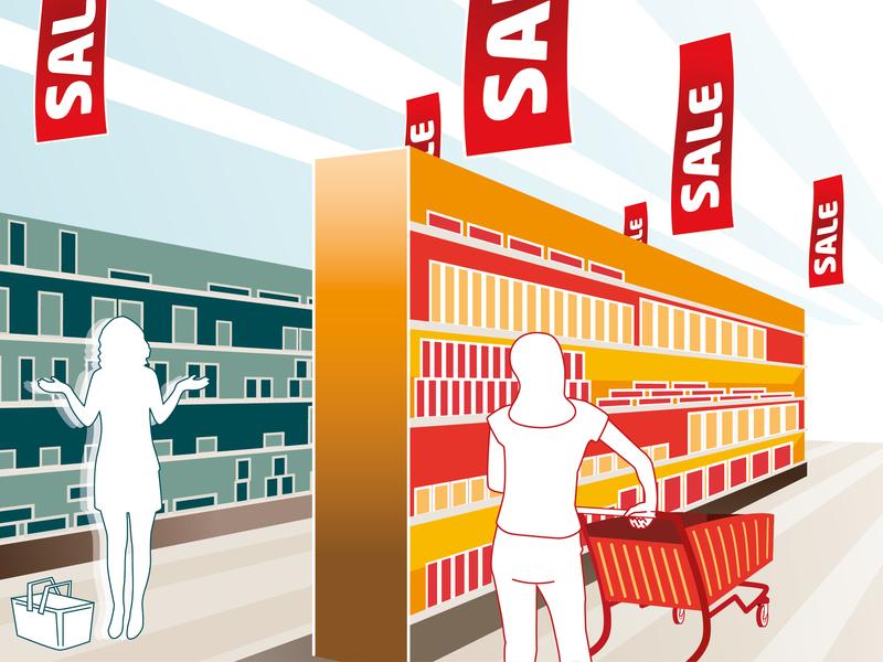 Retail conference graphics retail design vector illustration