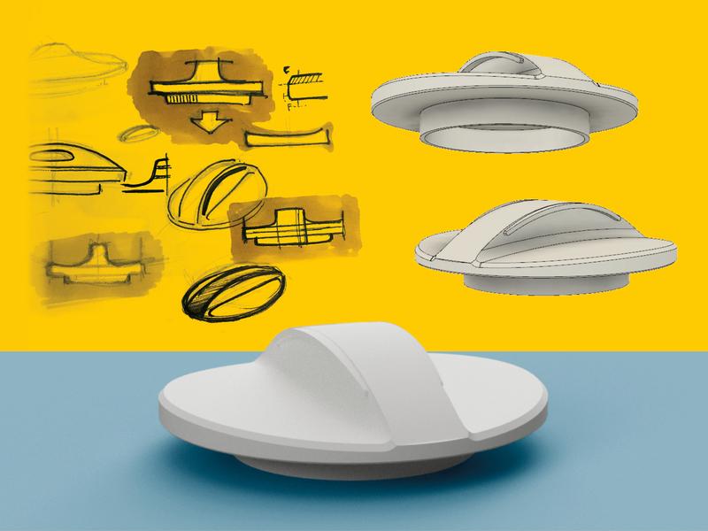 3d modelled drain cap fusion360 design illustration 3d