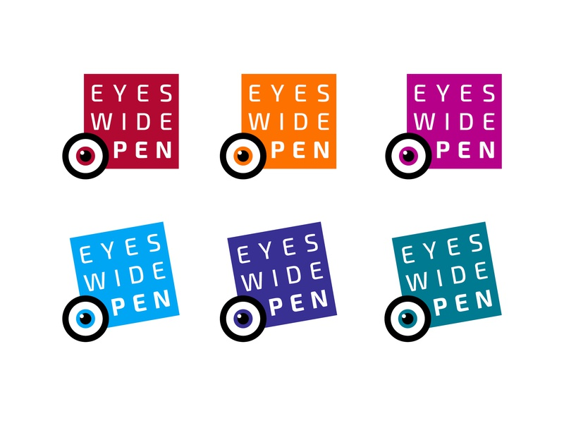 Eyes Wide Open Logo vector rebrand typography design branding logo