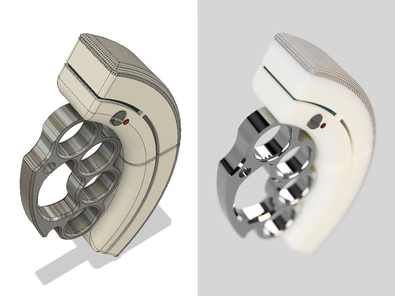 Sonic:Knuckles fusion360 concept design 3d