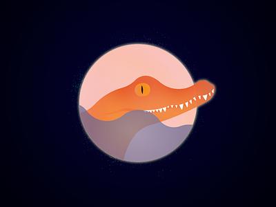 Crocodile creature beauty animal soul ethereal illustration design magic fantasy crocodile
