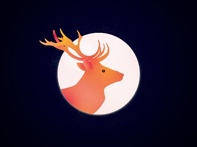 Deer 02 creature beauty animal soul ethereal illustration design magic fantasy deer